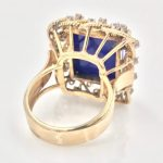 18k Gold Lapis Lazuli and Diamond Ring