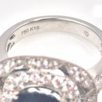 18k Gold Sapphire and Diamond Fancy Ring