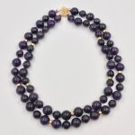 Amethyst Bead Necklace w/ 14k filigree and spacers