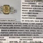 Platinum Fancy Yellow Diamond Engagement Ring